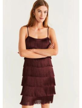 Φόρεμα σε ίσια γραμμή με κρόσσια by Mango