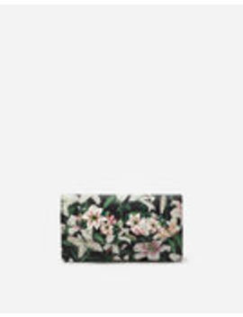 Wallet Bag In Lily Print Dauphine Calfskin With Embroidery by Dolce&Gabbana