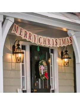 Merry Christmas Seasonal Decor Banner by The Holiday Aisle