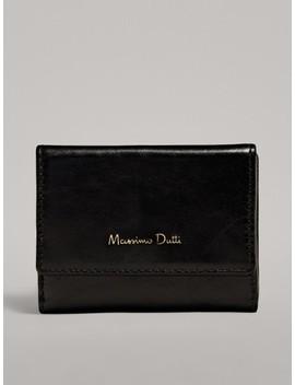 Brieftasche Mit Geldbeutel Aus Leder by Massimo Dutti