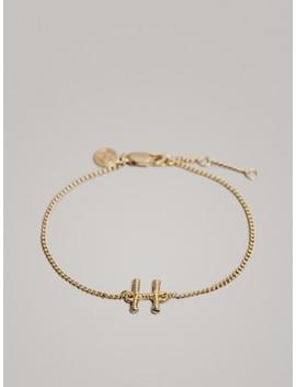 Vergoldetes Armband Mit Buchstabe H by Massimo Dutti