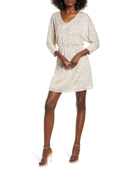 Sequin Dolman Minidress by All In Favor