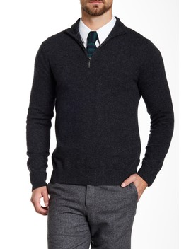 Cashmere Half Zip Sweater by Qi Cashmere