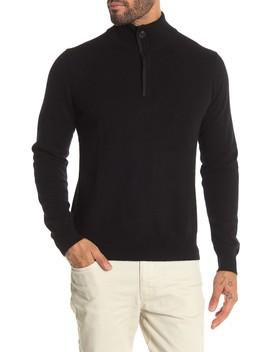 Quarter Zip Cashmere Sweater by Stewart Of Scotland