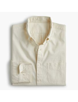 Slim Stretch Chambray Shirt In Organic Cotton by J.Crew