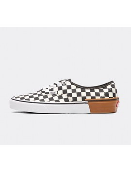 Authentic Checkerboard Trainer | Black / White / Gum by Vans