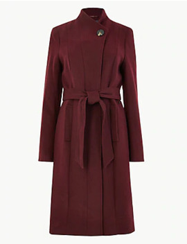 Soft Touch Wrap Coat by Standard Delivery: