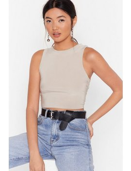 Come To A Halt Crew Neck Crop Top by Nasty Gal