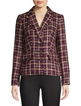 Patterned Tweed Blazer by Karl Lagerfeld Paris