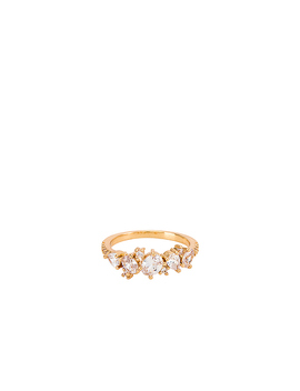 Crystal Ring In Gold by Ettika
