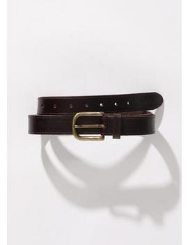 Vegetable Tanned Leather Belt by Afends