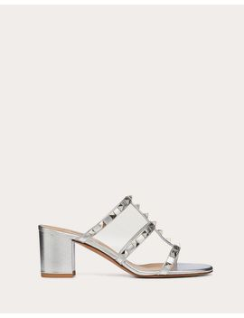Rockstud Metallic Slide Sandal 60 Mm by Valentino Garavani