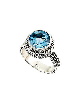 Samuel B. Silver 5.75 Ct. Tw. Blue Topaz Ring by Samuel B.