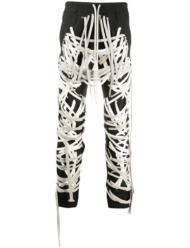 Lace Up Detail Trousers by Rick Owens