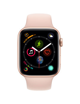 Apple Watch Series 4 (Gps) 44mm Gold Aluminium Case With Pink Sand Sport Band by Best Buy