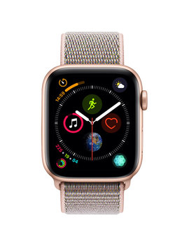Apple Watch Series 4 (Gps) 44mm Gold Aluminium Case With Pink Sand Sport Loop by Best Buy