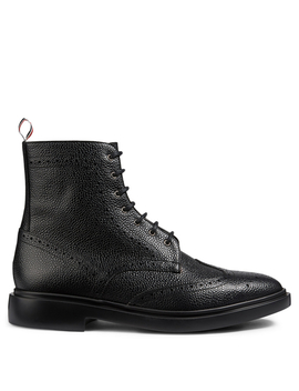 Grained Leather Wingtip Brogue Boots by Holt Renfrew