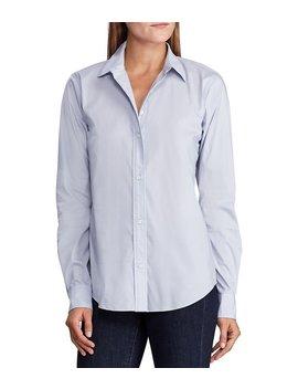 Stretch Cotton Blend Button Down Shirt by Lauren Ralph Lauren