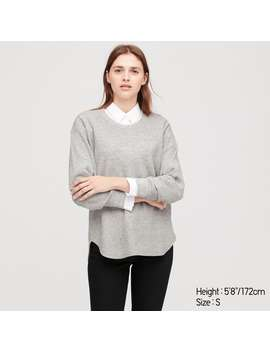 Waffle Oversized Crew Neck Long Sleeve T by Uniqlo