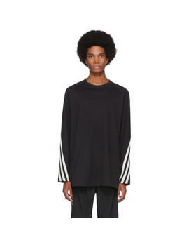 Black Packable Long Sleeve T Shirt by Y 3