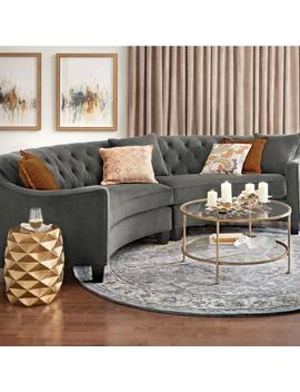 Riemann 2 Piece Microsuede Smoke Sectional by Home Decorators Collection