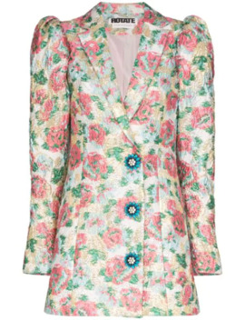 Carol Floral Jacquard Blazer Dress by Rotate