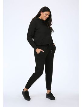 Plus Size Black Joggers by Pink Clove