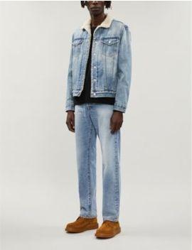 Ilkley Shearling Lined Denim Jacket by Allsaints