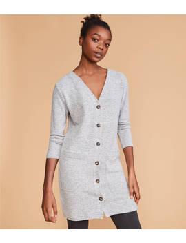 Striped Brushmarl Cardigan Dress by Lou & Grey