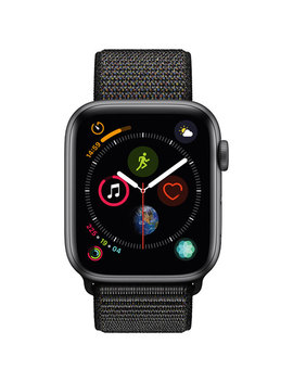 Apple Watch Series 4 (Gps) 44mm Space Grey Aluminium Case With Black Sport Loop by Best Buy