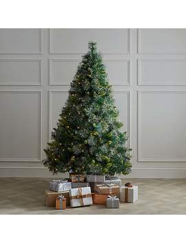 6ft Pre Lit Champagne Tip Fir Christmas Tree by Dunelm