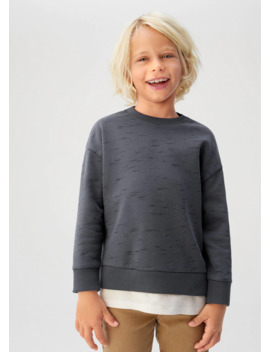 T Shirt Hem Organic Cotton Sweatshirt by Mango