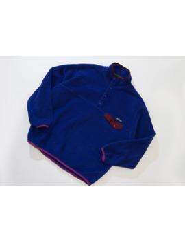 Vintage Rare Patagonia Synchilla Fleece Snap T Pullover by Vintage  ×  Patagonia  ×  Rare  ×