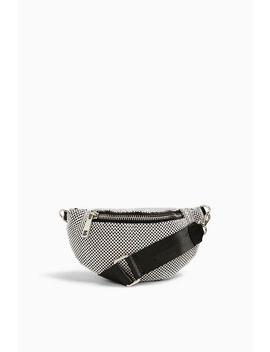 Diana Silver Diamante Bumbag by Topshop