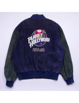 Planet Hollywood Santa Ana California Vintage Suede Bomber by Vintage  ×  Planet Hollywood  ×