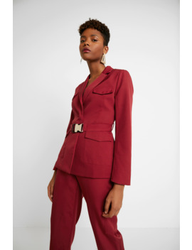 Belted   Blazer by Missguided