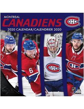Montreal Canadiens   Bilingual 2020 12x12 Team Wall Calendar by Calendars