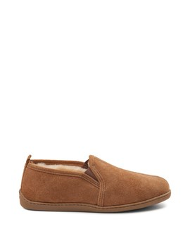 Mens Minnetonka Twin Gore Sheepskin Slipper by Minnetonka