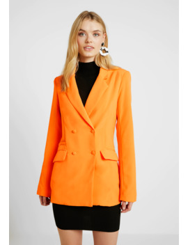 Button Detail Double Breasted   Blazer by Missguided Tall