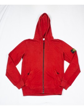 Red Zip Hoodie by Stone Island  ×