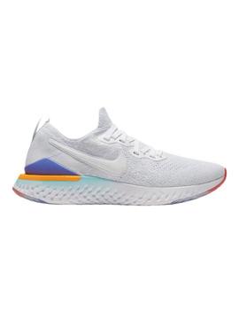 Nike Women's Epic React Flyknit 2 Running Shoes   White/Jade/Ember by Sport Chek