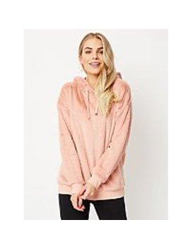 Pale Pink Faux Fur Hoodie by Asda