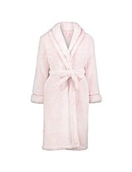 Pale Pink Fleece Dressing Gown by Asda