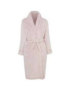Pink Long Fleece Dressing Gown by Asda