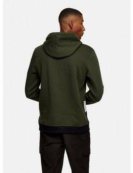 Guess Khaki Pullover Fleece Hoodie by Topman