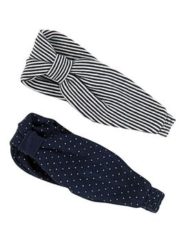 Pack Of 2 Headbands by Petit Bateau