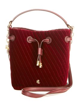Debby Velvet Quilted Mini Drawstring Bag by Lauren Ralph Lauren