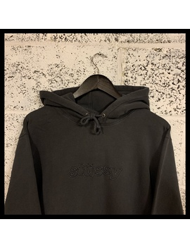 Stussy 3 D Spellout Hoodie • Washed Black • Medium by Depop