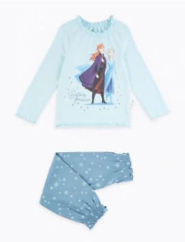 Disney Frozen™ 2 Sisters Forever Cotton Pyjama Set (2 10 Years) by Marks & Spencer