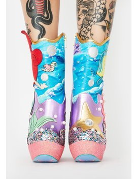 Just Me N' The Sea Platform Boots by Irregular Choice
